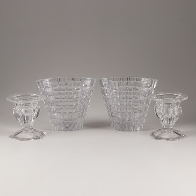 Crystal Candleholders and Vases Featuring Royal Doulton Crystal