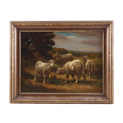 Carleton Wiggins Pastoral Oil Painting