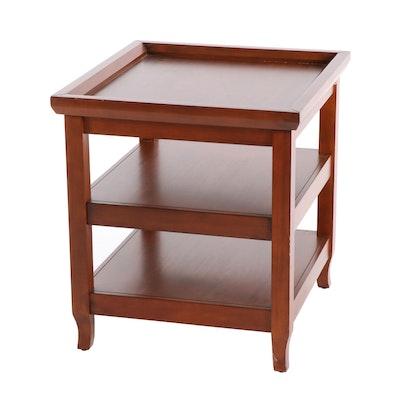 Contemporary Ballard Designs Walnut-Finish Wooden End Table