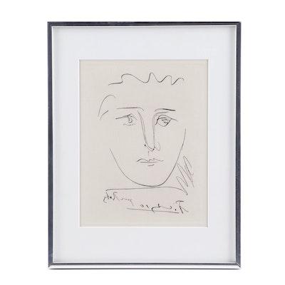 """Pablo Picasso Restrike Etching """"L'Age de Soleil (Pour Roby)"""""""