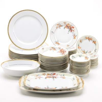 """Epiag """"Silver Maple Gold"""" Porcelain Dinnerware and Serveware and Other Porcelain"""