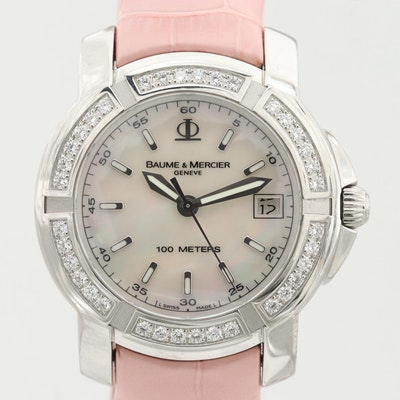 Baume & Mercier Capeland S Quartz Wristwatch With Diamond Bezel