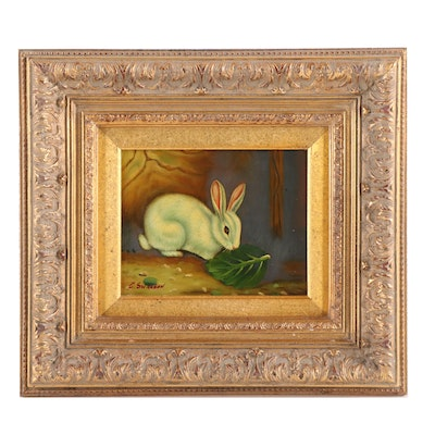 C. Swanson Oil Painting of Bunny
