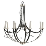 """Quoizel Lighting """"Alana"""" Brushed Nickel Dimmable Chandelier"""