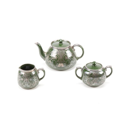Gibsons Silver-Painted Tea Set, circa 1910