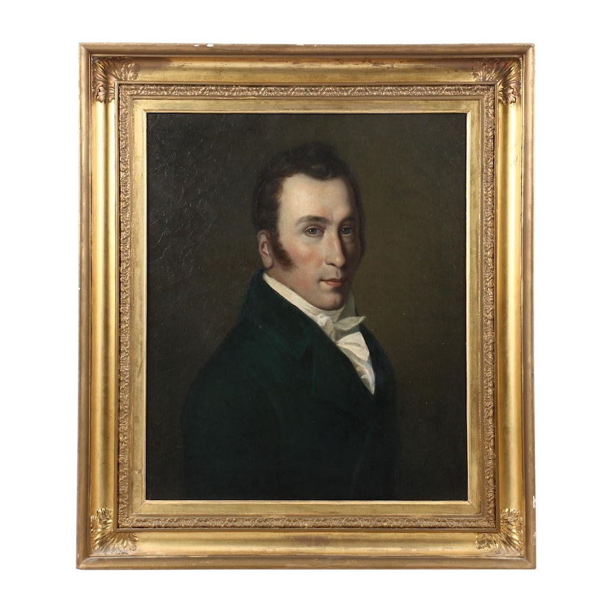 Early 19th Century Continental Portrait Painting
