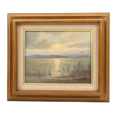 Landscape Oil Painting of Coastal Scene