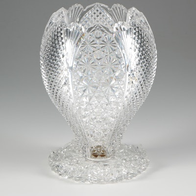 American Brilliant Cut Glass Vase, Late 19th/Early 20th Century