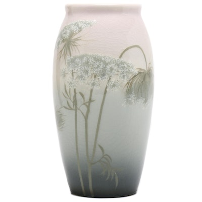 Sara Sax Rookwood Pottery Queen Anne's Lace Vase, 1907