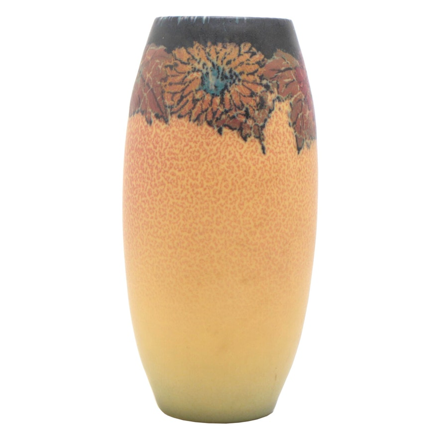 Elizabeth Neave Lincoln Peony Flower Rookwood Pottery Vase, 1923