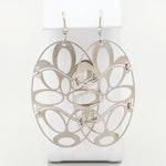 Sterling Silver Openwork Dangle Earrings