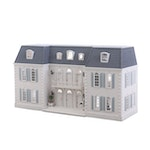 French Mansard Artisan Crafted Doll House with Electricity and Furniture