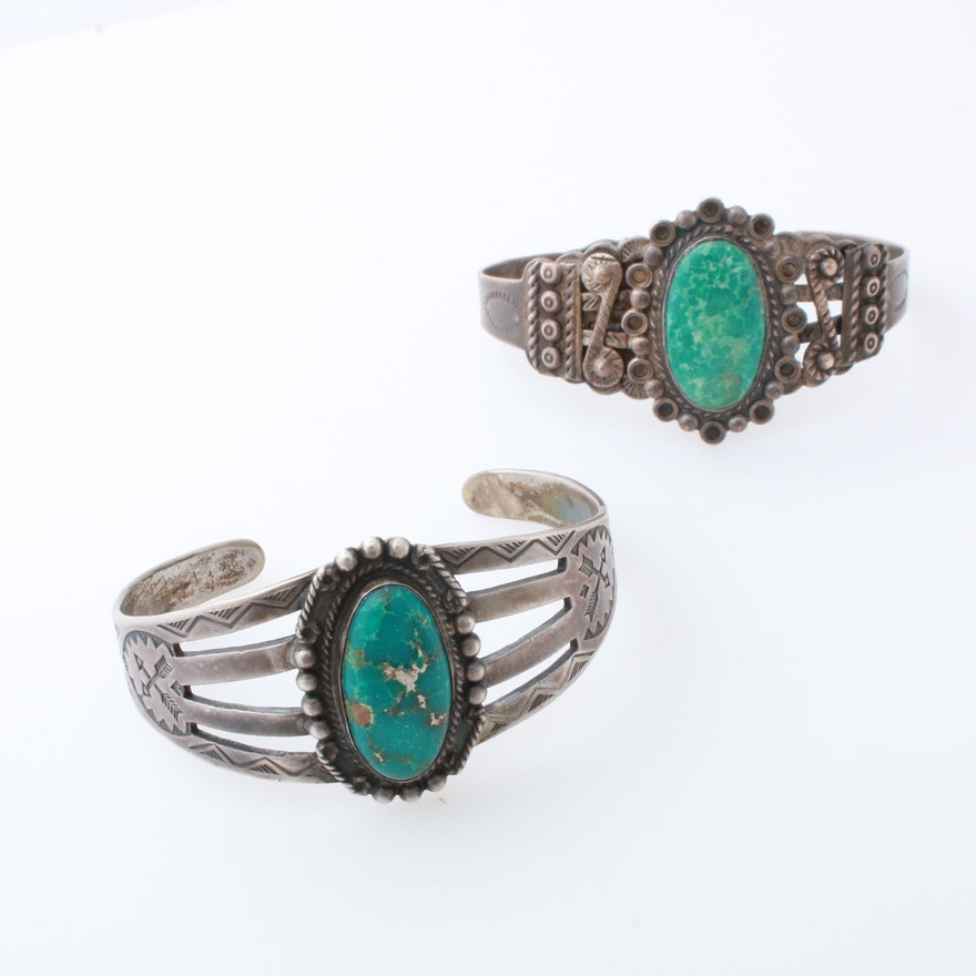 Sterling Silver Turquoise Southwest Style Bracelets