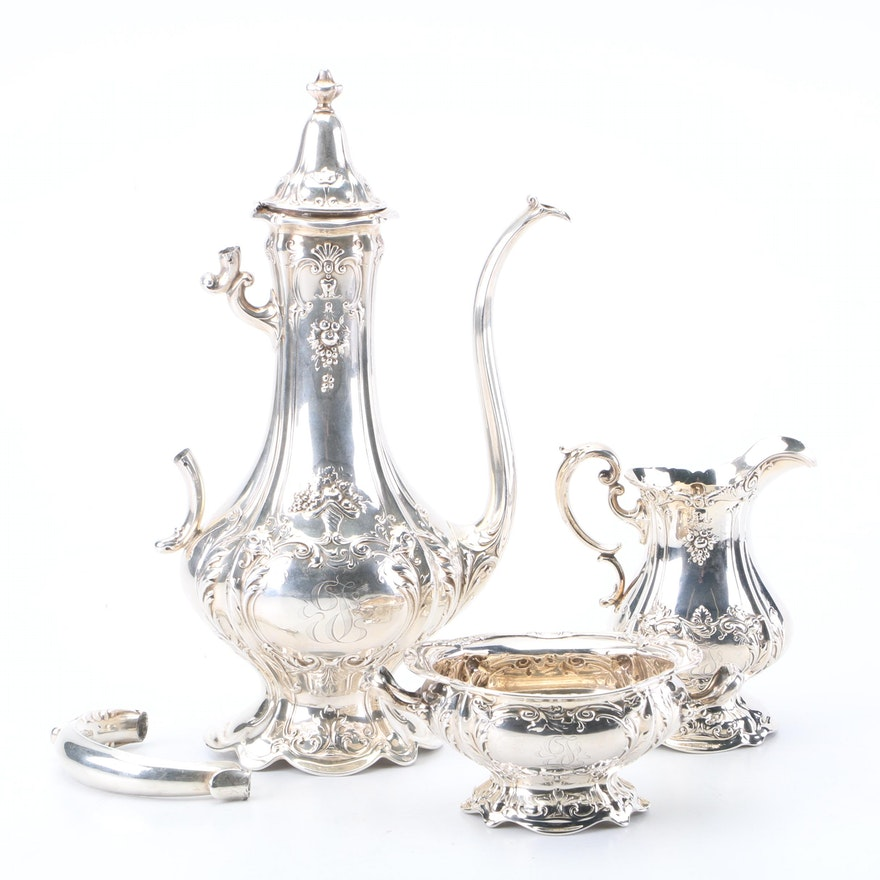 """Reed & Barton """"Francis I"""" Sterling Silver Coffee Set"""