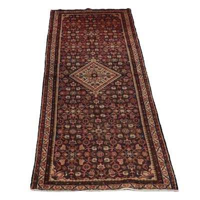 Hand-Knotted Persian Bakshaish Wool Carpet Runner