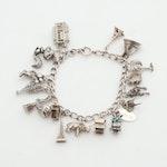 Sterling Silver Traveler's Charm Bracelet