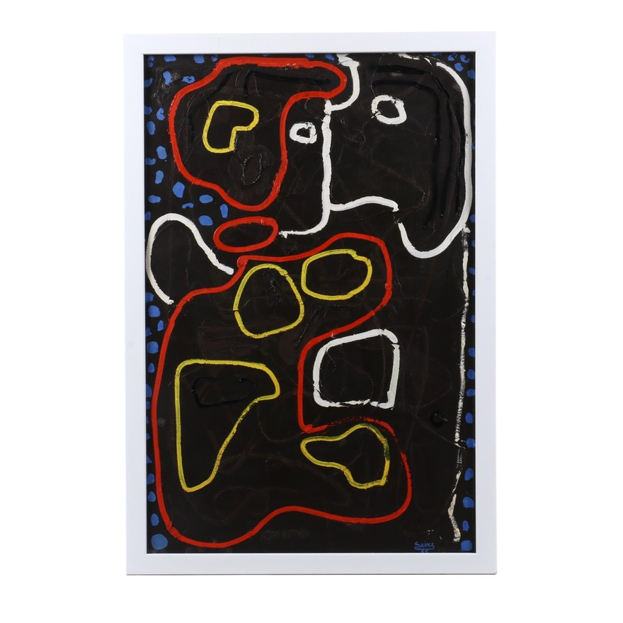 Francisco Sainz Abstract Oil Painting