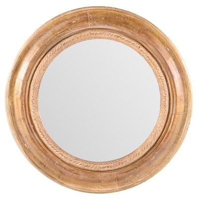 """Bombay """"Provence"""" Round Wall Mirror, 20th Century"""