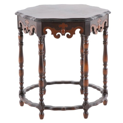 Umphrey Manufacturing Co. Mahogany Veneer Jacobean Revival Accent Table