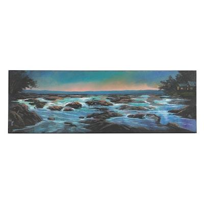"Douglas ""Bumo"" Johnpeer 2019 Oil Painting ""Misty Morning"""