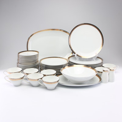 "Noritake China ""Compton"" Porcelain Dinnerware Service of Eight, c 1960s"