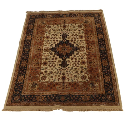 Machine Made Persian Hamadan Style Wool Rug
