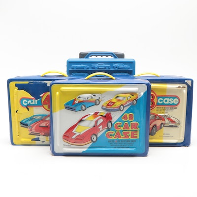Hot Wheels, Matchbox, and Other Die-Cast Toy Cars with Cases
