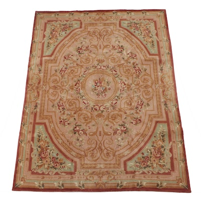 Power Loomed Sino-French Savonnerie Style Wool Rug