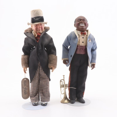 """Effanbee """"Louis Armstrong"""" and """"W.C. Fields"""" Dolls"""