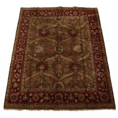 Hand-Knotted Indian Mahal Wool Carpet