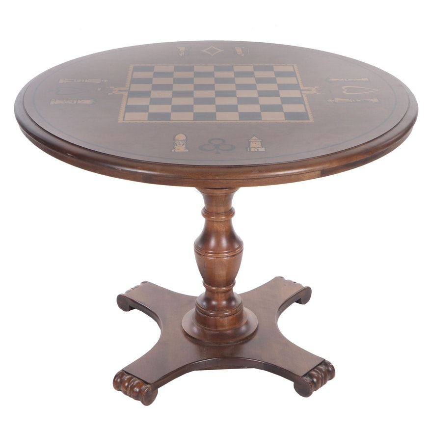 Rockingham Folding Wooden Games Table, 1960s-1970s