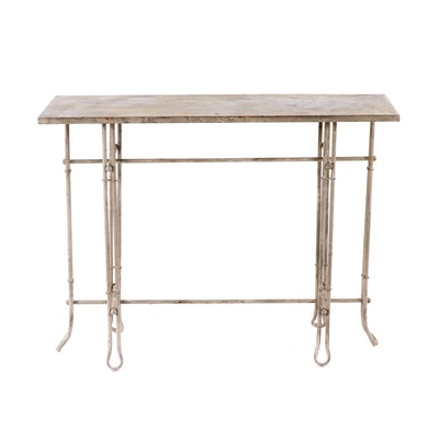 Contemporary Outdoor Metal Console Table