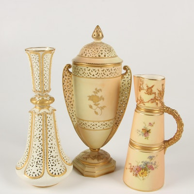Royal Worcester and Grainger & Co. Porcelain Décor, Late 19th Century