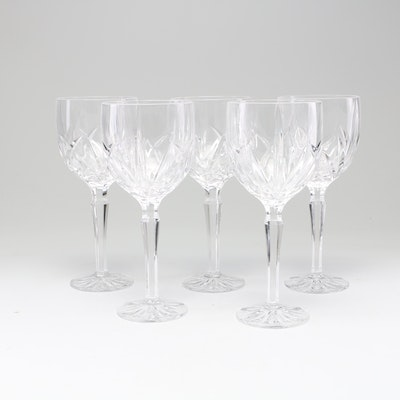 """Marquis by Waterford """"Brookside"""" Crystal Goblets, Late 20th Century"""