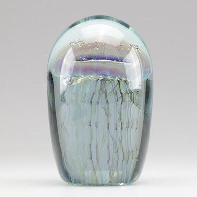 Robert Eickholt Glass Jellyfish Paperweight