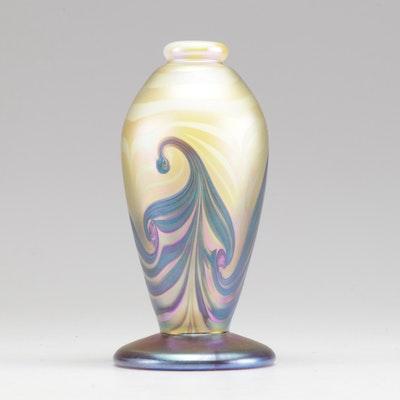 Robert Eickholt Pulled Feather Art Glass Objet d'Art