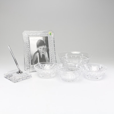 Crystal Bowls, Picture Frame and Pen Stand Including Waterford