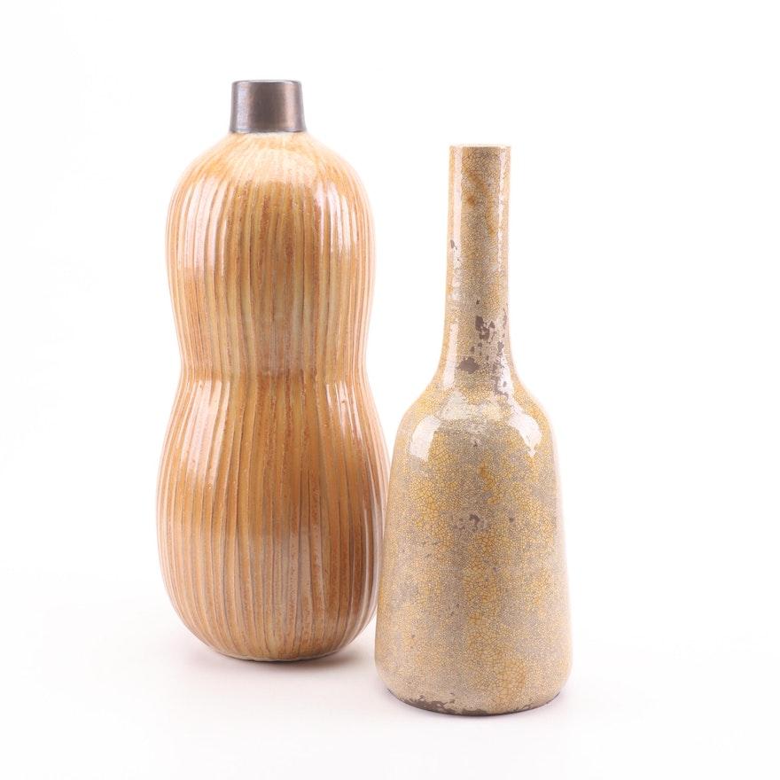 Contemporary Stoneware Home Decor Vases