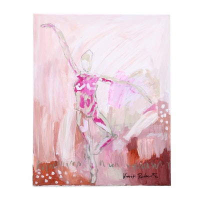 "Kait Roberts Mixed Media Painting ""Graceful"""