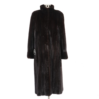 The Evans Collection Ranch Mink Fur Coat from Giancarlo Ripa