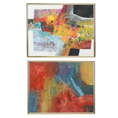 Gloria Geller Abstract Mixed Media Paintings