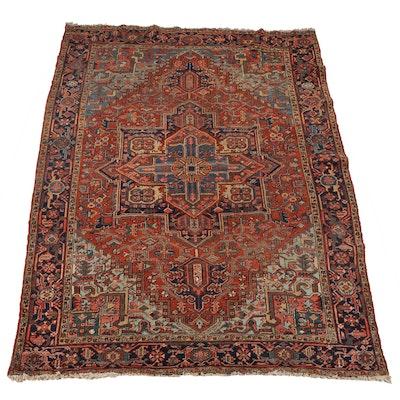 Handwoven Persian Heriz Serapi Wool Rug
