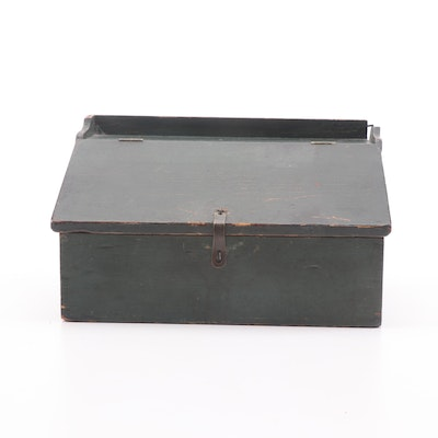 Primitive Painted Writing Box, Early 19th Century