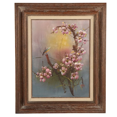 Chinese Floral Still Life Oil Painting