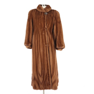 Women's Male Mink Pelt Fur Coat, Vintage