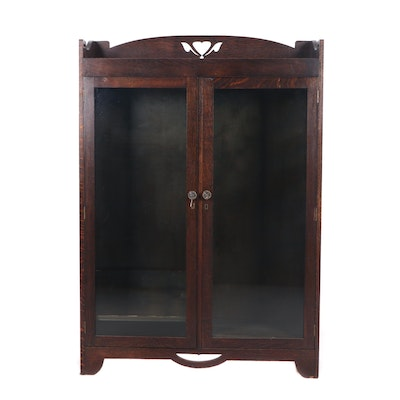 Arts & Crafts Oak Bookcase, Late 19th or Early 20th Century