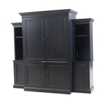 Pottery Barn Ebonized Finish Media Unit with Shelving, Contemporary