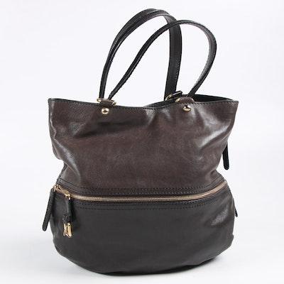 Dolce & Gabbana Two-Tone Leather Victoria Shoulder Bag