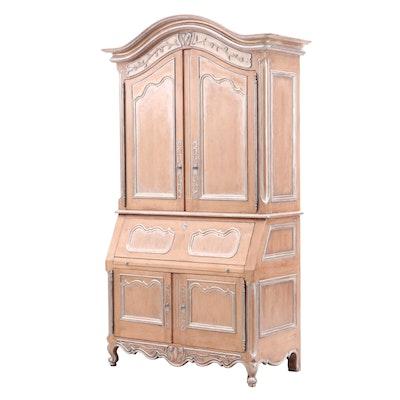 Bausman & Co. Louis XV Style Wooden Secretary Bookcase, Late 20th Century