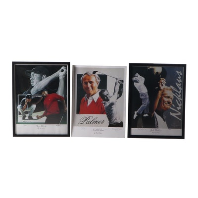 Jim Cortes Offset Lithographs of Golfers